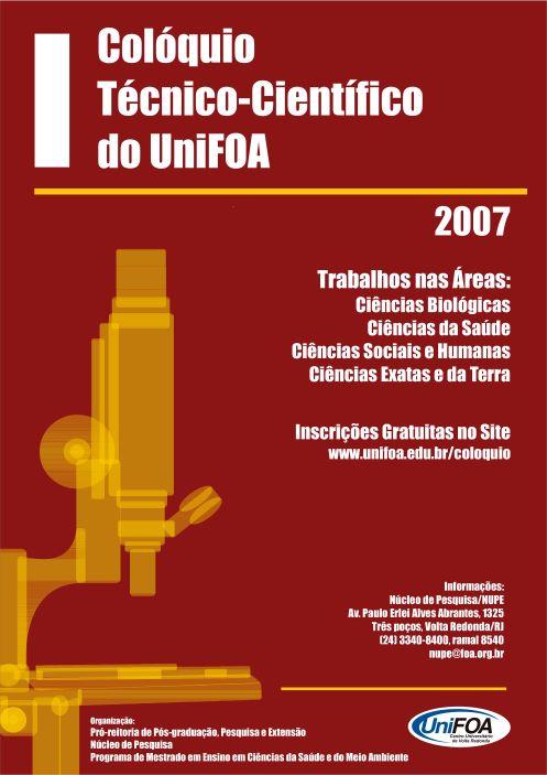 Visualizar v. 2 n. 1 esp (2007): I Colóquio Técnico-científico do UniFOA